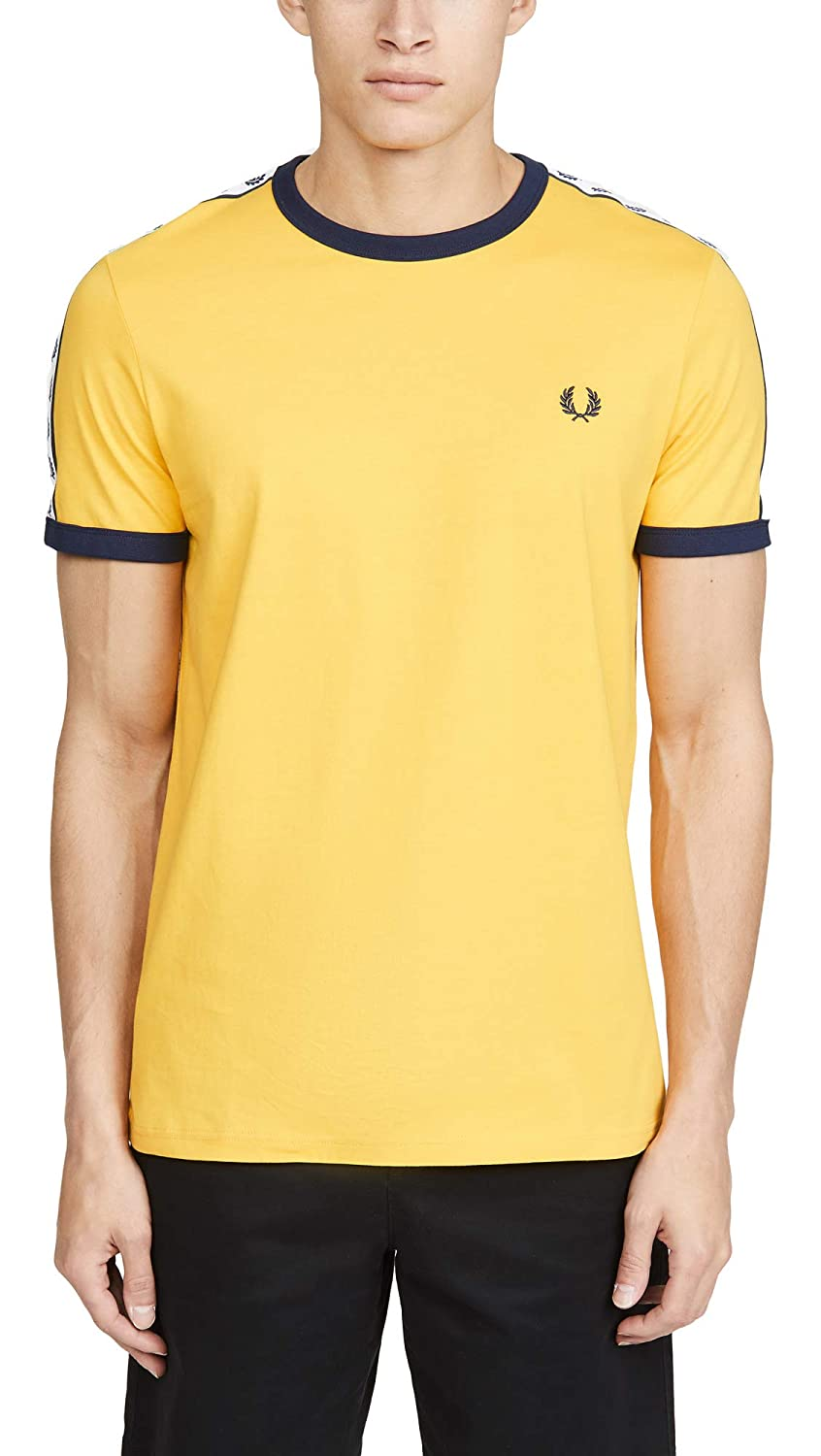 Fred Perry Taped Ringer T-Shirt Sunglow, Camiseta: Amazon.es: Ropa ...