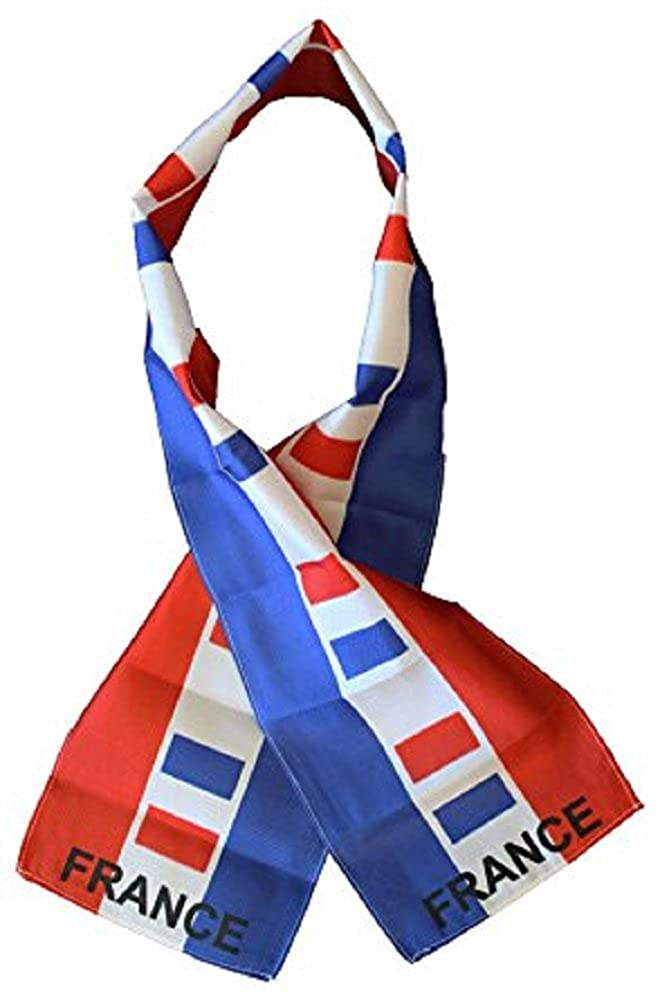 France Country Lightweight Flag Printed Knitted Style Scarf 8x60
