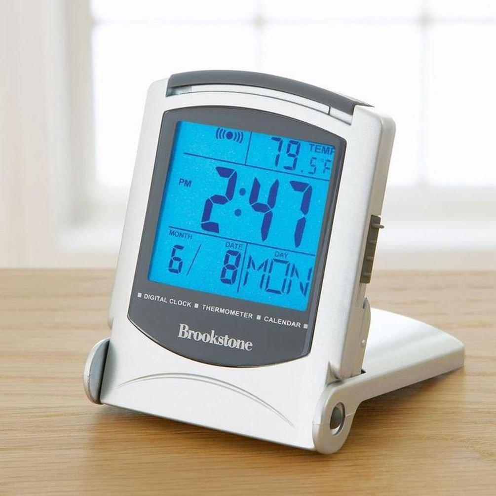 Reloj despertador digital con estación metereológica: Amazon.es: Belleza