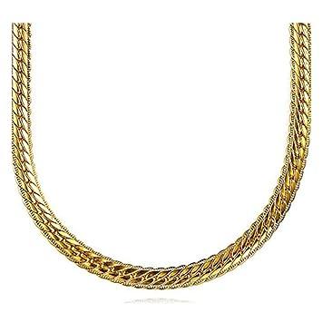 0d25b94ccd97 Cadena para hombre, chapada en oro de 18 quilates
