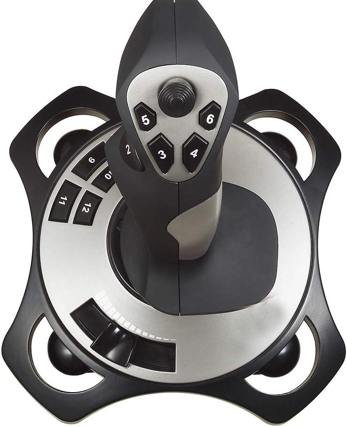 Hjj Simulador de Vuelo Gamepad Controller, Simulación de Joystick, Joystick 3D Pro, Controlador de Juego de Vibración de Aviones, para PC, Escritorio, Playstation