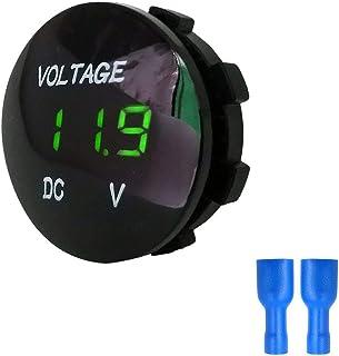 Footprintse Tester del voltmetro elettrico del pannello di voltmetro di Digital dell'esposizione del LED 5-48V per la batteria del motociclo dell'automobile dell'automobile della batteria impermeabile