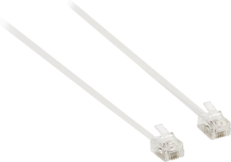 Ex-Pro RJ11 - Cable alargador de repuesto de 4 pines, ADSL de banda ancha, conector microfiltro 6P4C de macho a hembra, color negro y blanco: Amazon.es: Electrónica