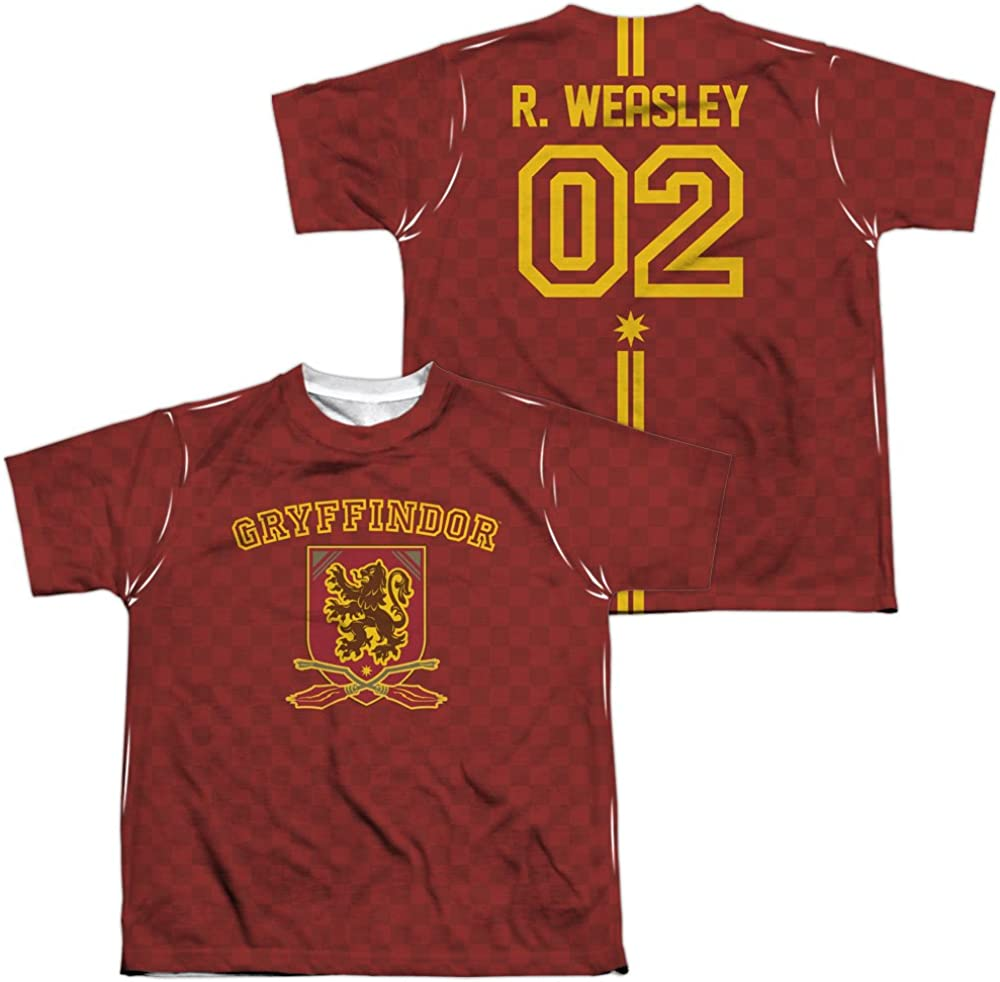 Weasley Jersey All Over Print T-Shirt TeeShirtPalace Front//Back Youth Harry Potter