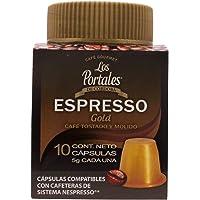 Los Portales de Cordoba Capsulas Café Gourmet ESPRESSO Gold, 10 cápsulas