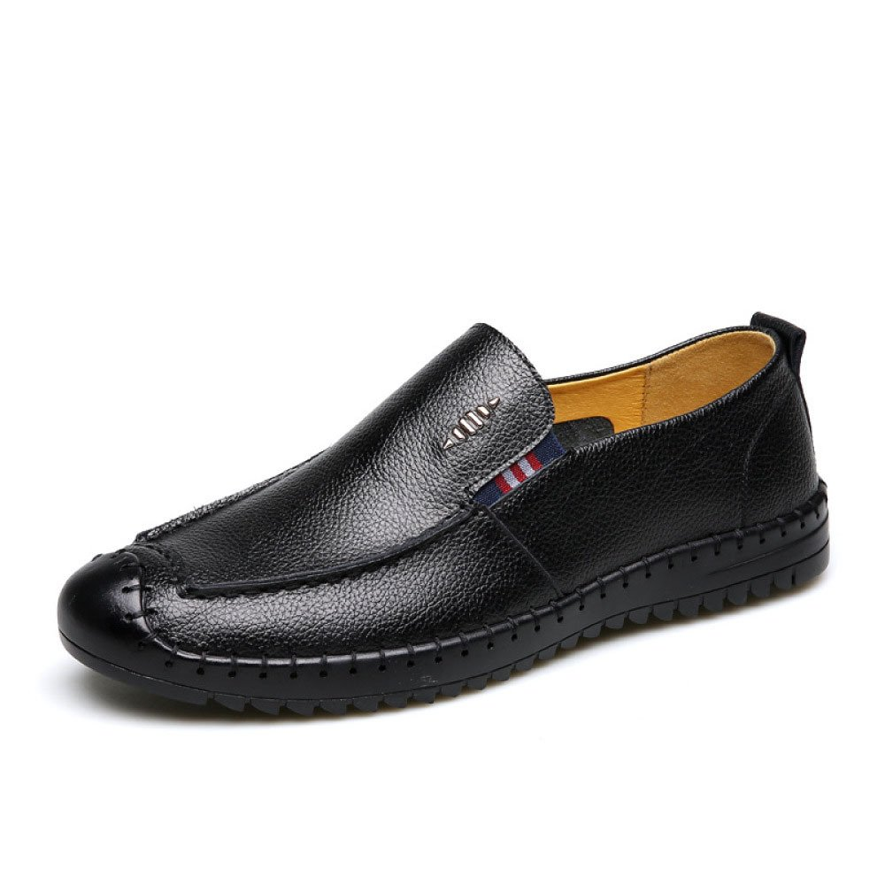 LYZGF Männer Gentleman Business Casual Fashion Faul Fahren Lederschuhe