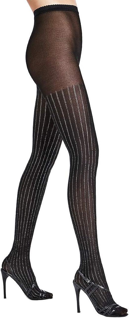 Collant WOLFORD SANTA BARBARA coloris Black//Black Tights. Taille XS