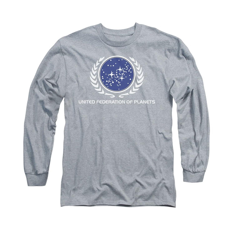 Star Trek Next Generation TVSeries United Federation Logo Adult L-Sleeve T-Shirt