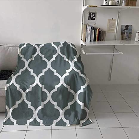 Amazon Com Soft Blanket Throw Gray And White Decorative Damask Geometric Victorian Style Creative Home Decoration Modern Bathroom Art Decor Interior Machine Washable Blanket Best Gift For Women Men Kid Teen Home