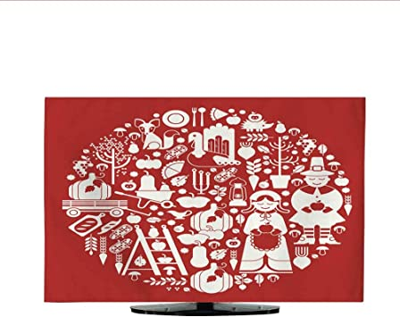 Funda de Tela para TV con diseño de Libro de acción de Gracias ...