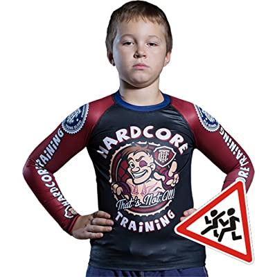 Kids Rashguard Hardcore Training Cartoon MMA Fitness Boys