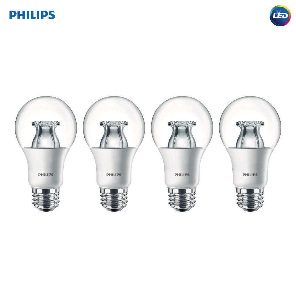 Philips 458828 equivalente a 60 W A19 intensidad regulable claro LED luz bombilla con efecto brillante): Amazon.es: Bricolaje y herramientas