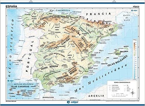 mapa mural españa, físico / político: Mapas Murales Mapa Mural ...