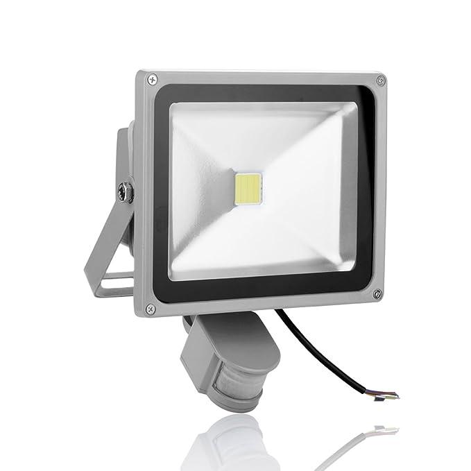 Himanjie® 30W LED Projecteur Extérieur et Intérieur avec Détecteur, Étanche IP65, Lumière Blanch Froid, Éclairage de Sécurité led Spot Lumen 2100 pour Jardin, Terras