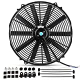 16'' Radiator Cooling Fan Electric Mounting Kit 12V for Motorcycle Bike Yamaha Honda Harley 3000CFM(Diameter 16.73'' Depth 3.26'')