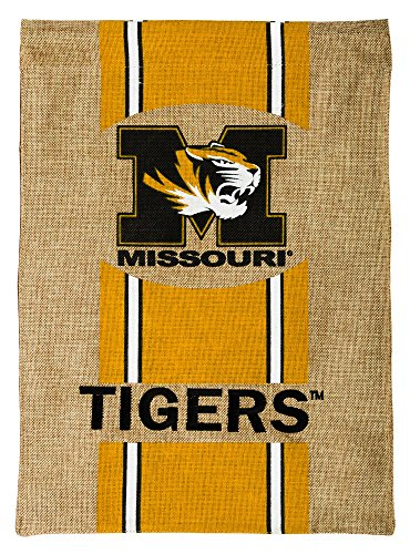 Missouri Tigers Official NCAA 12.5 inch x 18 inch Team Burlap Garden Flag by - Gardens Stores Pembroke Shops Of
