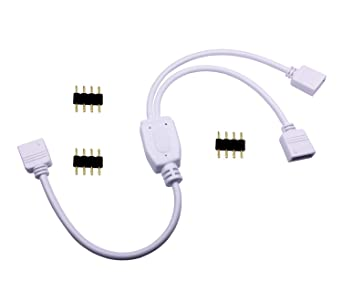 Amazon.com: TronicsPros 4 Pin LED Splitter Cable RGB LED Strip ...