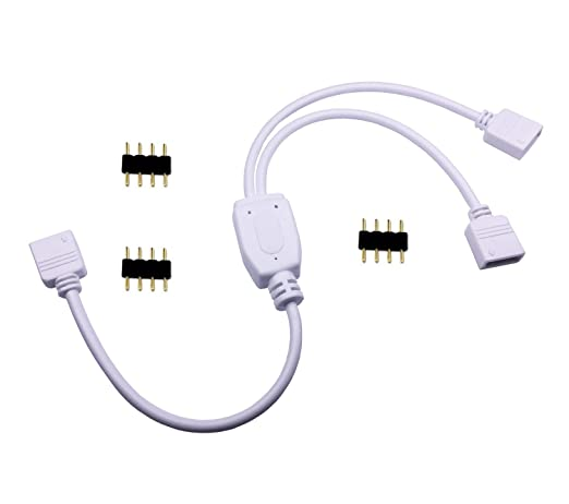 tronicspros 4 pin led splitter cable rgb led strip connector y rh amazon com
