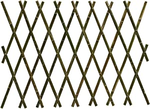 LIQICAI Expandable Lattice Fence Plant Climbing Lattices Trellis Fence Bamboo Bendable Decorative for Garden Patio Lawn, Easy to Install, 2 Colors, 5 Sizes (Color : Brown, Size : 120x180cm)