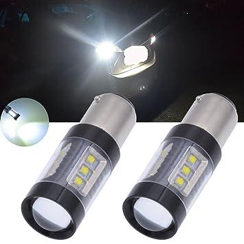 TUINCYN 1157 Bombillas LED Blanco 1800 Lúmenes Extremadamente Brillante CREE 16SMD Bombillas LED de Coche 7528 ...