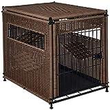 wicker pet bed Mr. Herzher's Small Pet Residence, Dark Brown