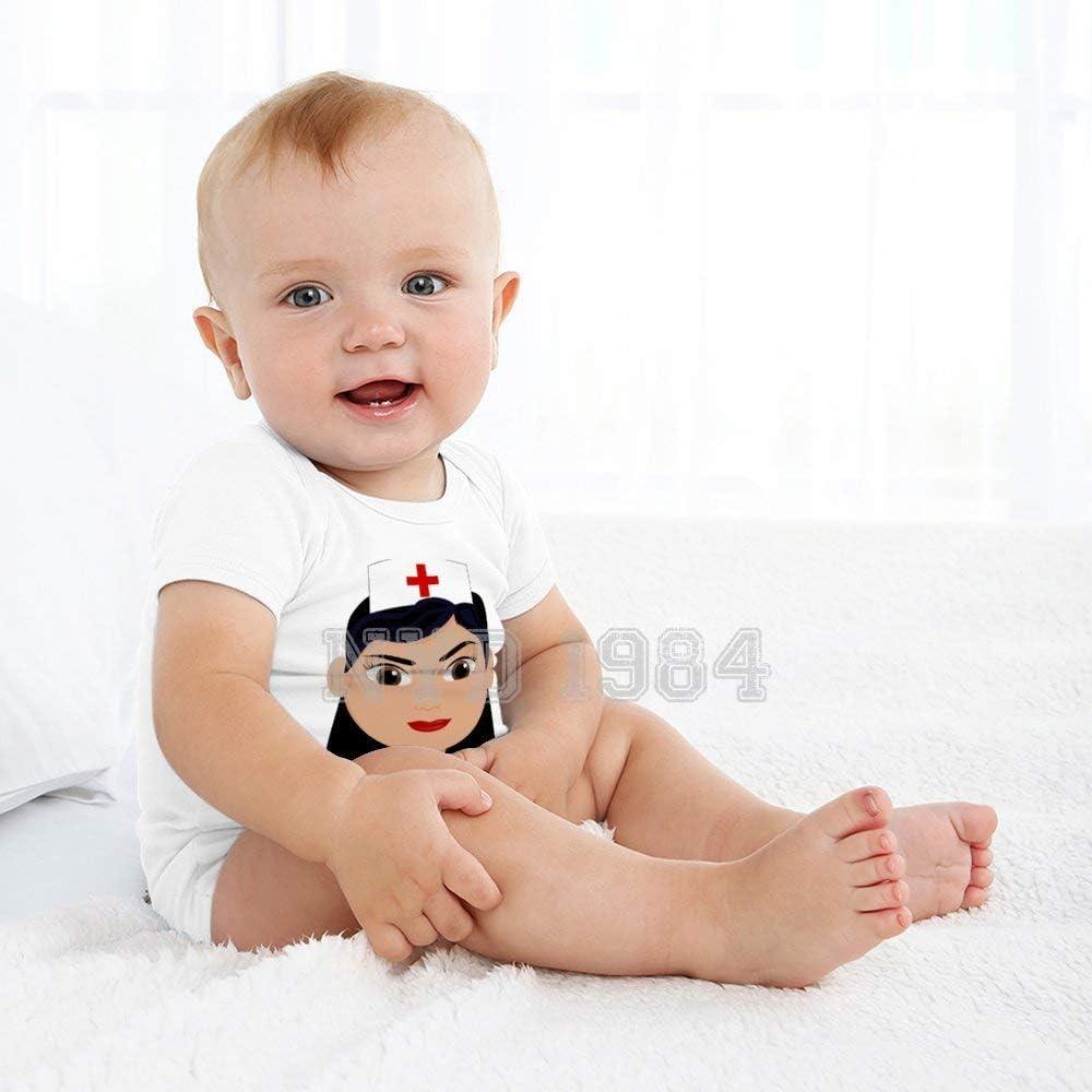 NYD 1984 Nurse Woman Person Nursing Medical Romper Clothes Outfit Newborn Infant Baby Bodysuit Jumpsuit 100/% Cotton