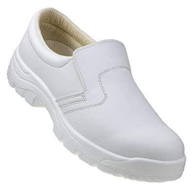 White Safety Shoes Metal Toe Cap Anty Slip Water Proof Work Shoes Trainers  251 S2 (