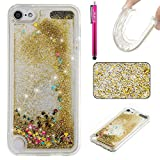 Ipod Gen 5 32gb Best Deals - iPod Touch 5 Case, Firefish Slim Dynamic Flowing [Anti-Slip] Flexible TPU [Scratch Resistances] Protective Cover for Girls Children Fits for Apple iPod Touch 5 -Golden