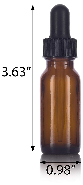 Amazon.com: vidrio ámbar cuentagotas botella redonda Boston ...
