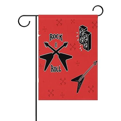 Amazon Leisisi Rock Music Symbols Garden Flag 12x18 Two