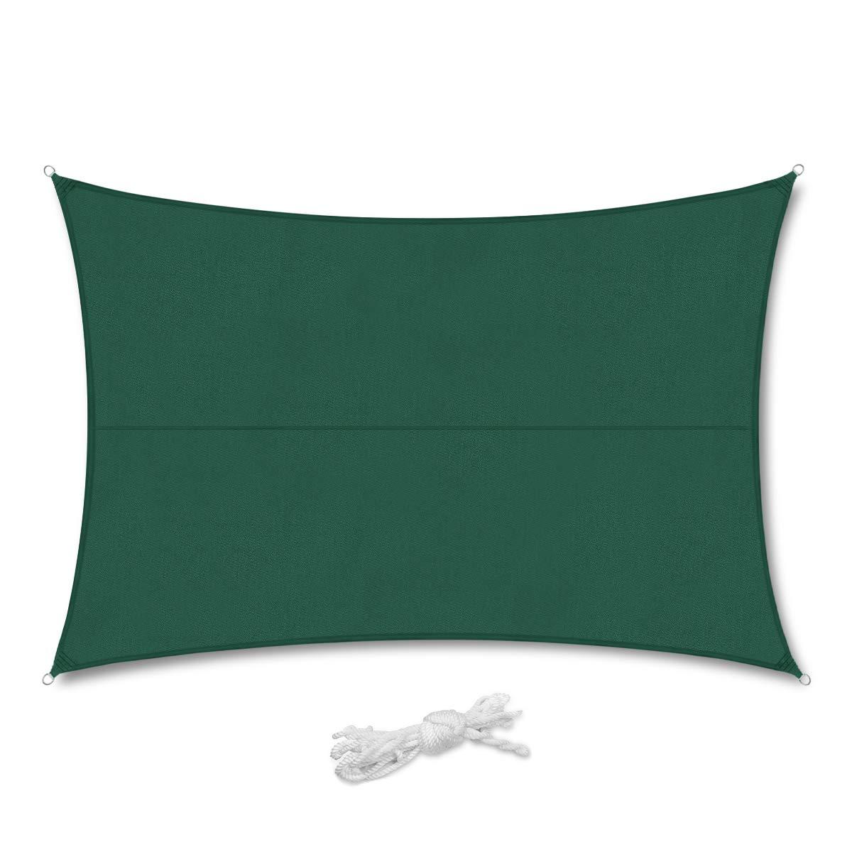3/×4m Sabbia con Corda Libera e Kit di Fissaggio Sekey Vela Parasole Rettangolare Traspirante Permeabile HDPE Protezione Antivento con Protezione UV 90/% per Giardino Terrazza Campeggio Patio Party