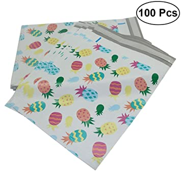 NUOLUX 100pcs Poly Mailers Piña Impreso bolsas de envío ...