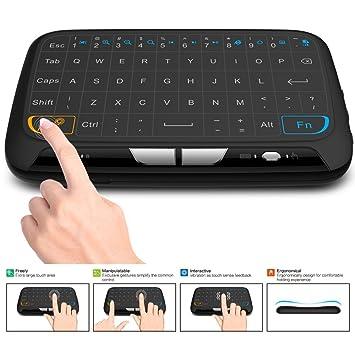 ACEMAX teclado inalámbrico y ratón táctil Combo, 2.4GHz Mini teclado con Panel táctil completo