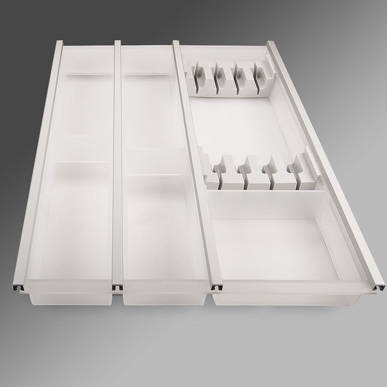 SO-TECH® Cuisio Cubertero blanco translúcido 450 mm incl. Bloque de cuchillos