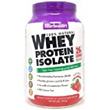 Bluebonnet Nutrition Whey Protein Isolate Powder, Whey From Grass Fed Cows, 26g of Protein, No Sugar Added, Non GMO…