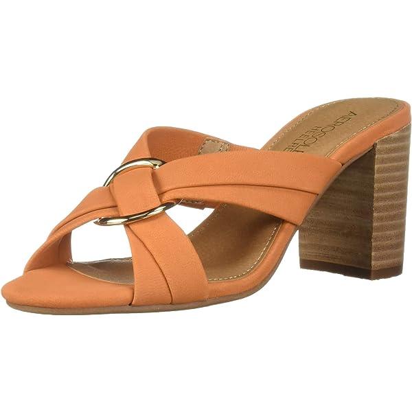Aerosoles Women's HIGHWATER Heeled Sandal, Orange Nubuck, 5