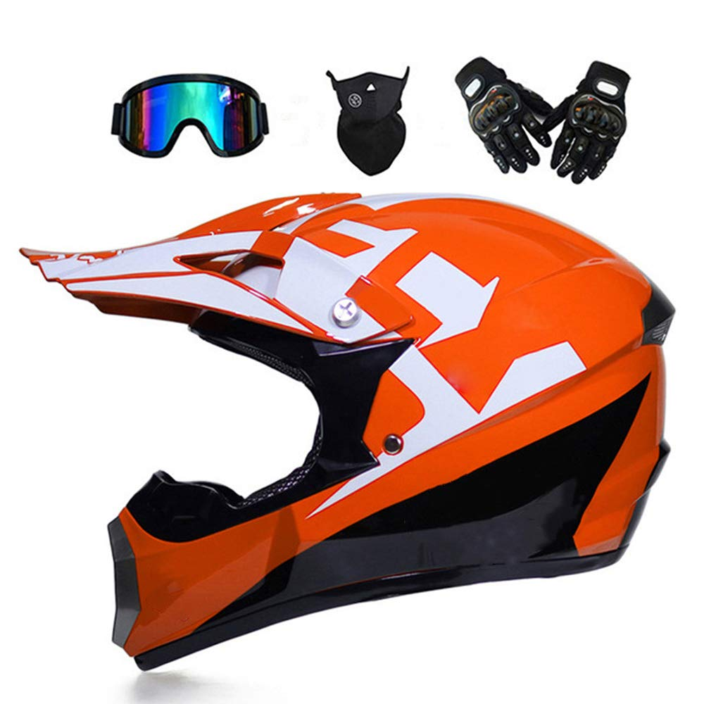 tkgh motocross helm mit visier brille handschuhe maske full face motorrad helm f uuml r off road. Black Bedroom Furniture Sets. Home Design Ideas