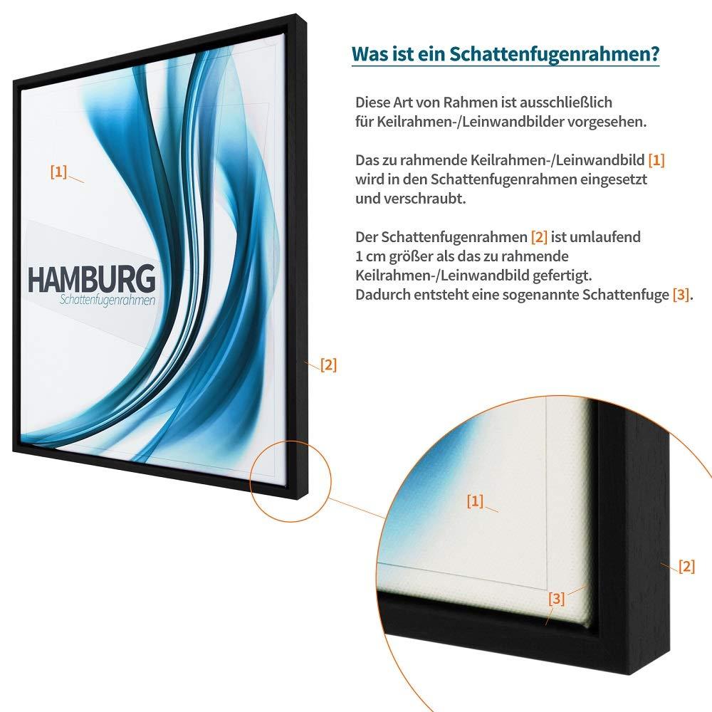 Amazon.de: Schattenfugen - Rahmen LEMGO 60 x 90 cm Natur ...