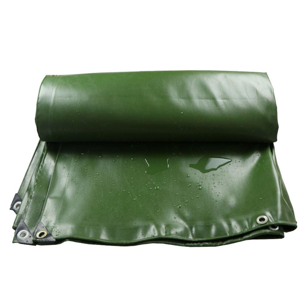 CHAOXIANG オーニング 厚い 両面 防水 耐高温性 日焼け止め 耐寒性 耐摩耗性 老化防止 耐食性 PVC 緑、 680g/m 2、 厚さ 0.7mm、 13サイズ (色 : 緑, サイズ さいず : 3x4m) B07D8WVXMS 3x4m 緑 緑 3x4m