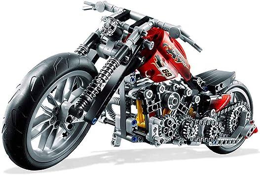 378Pcs Motorcycle Building Blocks Exploiture Model Harley Bricks Vehicle DIY Toy