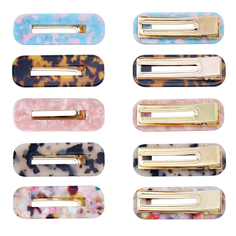 10 Pcs Acrylic Resin Hair Barrettes Fashion Geometric Alligator Hair Clips for Women and Ladies Hair Accessories by fani (Image #3)