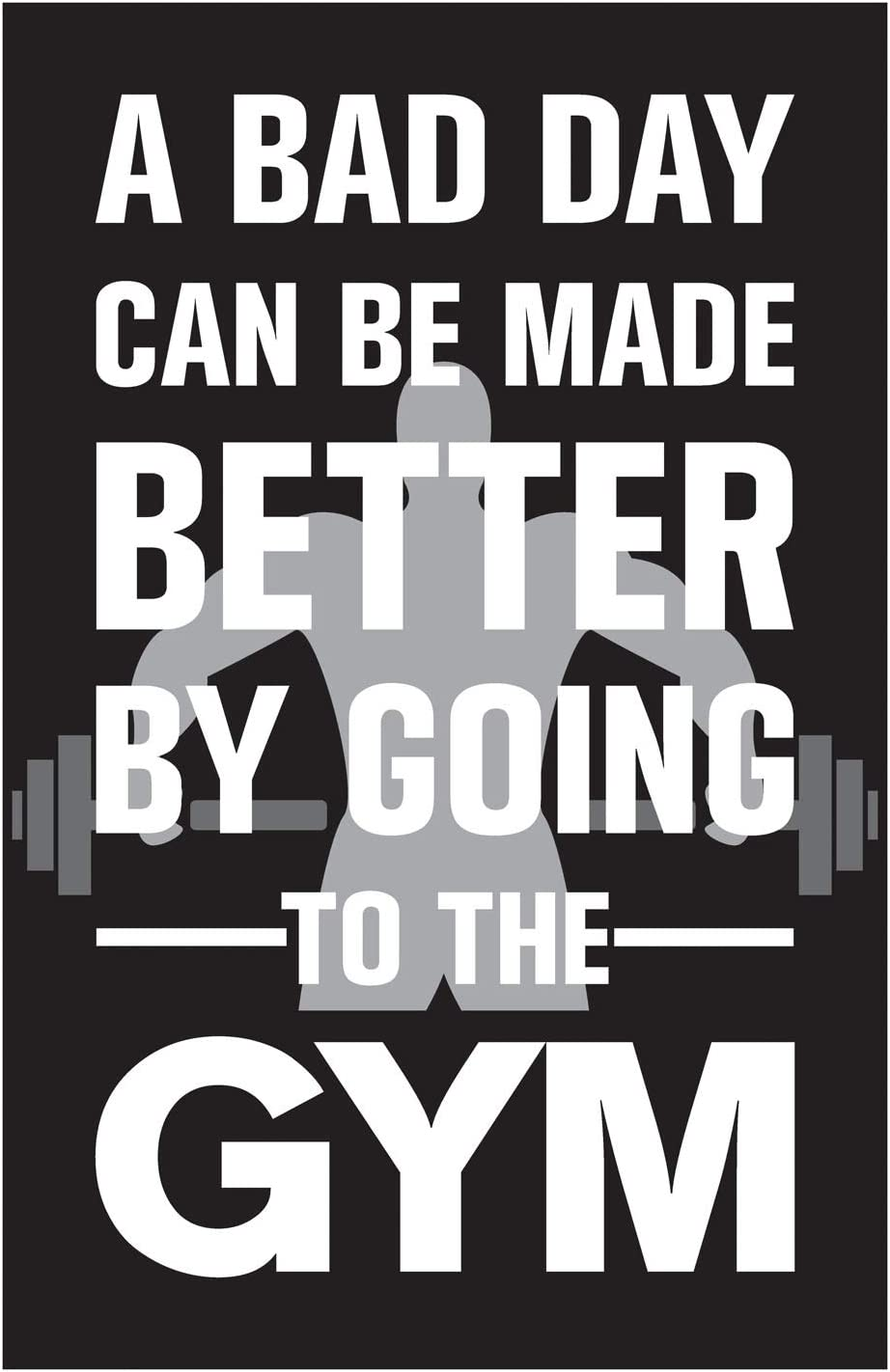Amazon Com Inephos Gym Fitness Quotes Poster Art Gym Motivation Posters Size 24 Inch X 36 Inch Large Laminated Vinyl Print Posters Prints