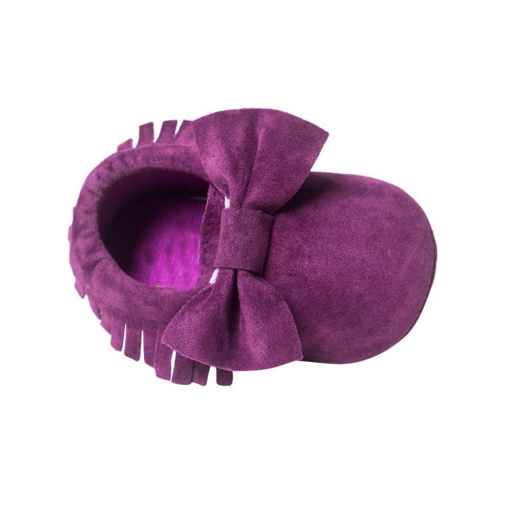 BOBORA Chaussures Bebe en Cuir Souple, Chaussons Bebe Filles Garcons Premiers Pas pour 0-6, 6-12, 12-18Mois