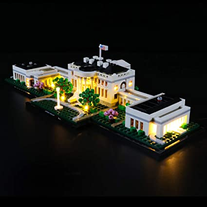 Amazon Com Briksmax Led Lighting Kit For Architecture The White House Compatible With Lego 21054 Building Blocks Model Not Include The Lego Set Toys Games