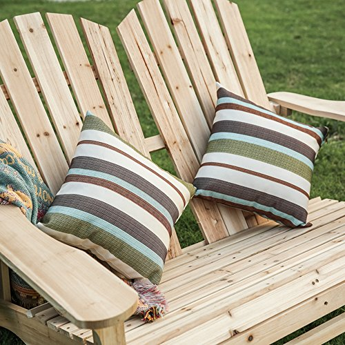 Home Yard Outdoor Living Leisure Fir Wood Double Recliner Seat, 50.4''× 35''× 34.3'' by Sonmer (Image #3)