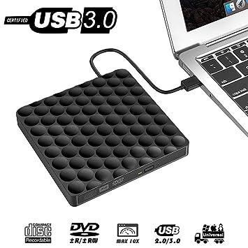 Grabadora DVD Externo Portatil,USB 3.0 Lector Unidad CD DVD Regrabadora Disco Compatible para PC Windows7/8/10,Linux,Mac OS PC: Amazon.es: Electrónica