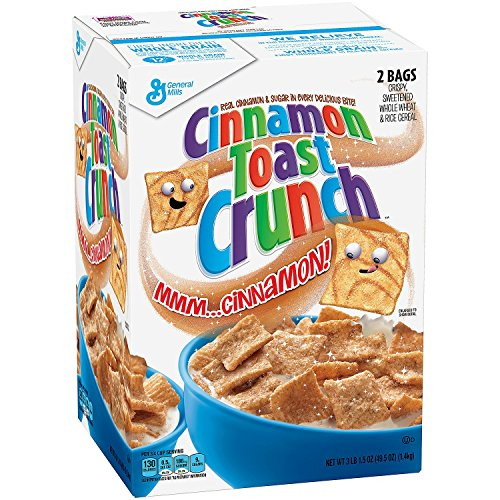 Cinnamon Crunch Granola (Cinnamon Toast Crunch Cereal 2 Bags, 43.75oz box by General Mills)