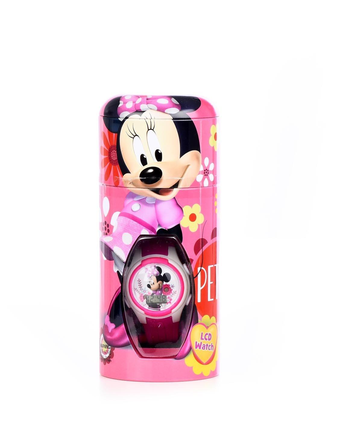 Disney Minnie Mouse Girl's Quartz Pink Casual Watch (Model: MINKD715CT)