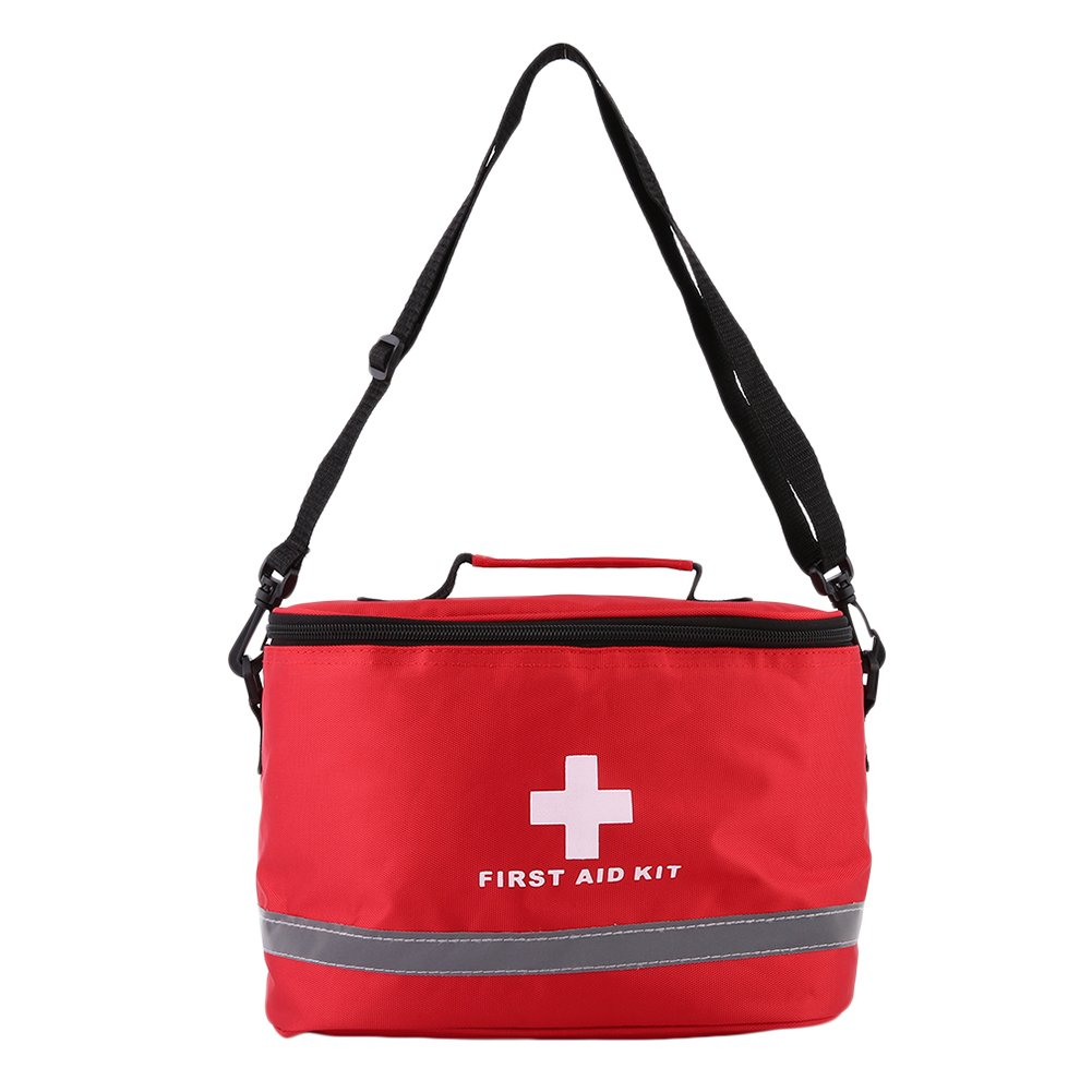 Nylon Cross Symbol Home Outdoor Medical Emergency First Aid Kit Empty Bag Pouch