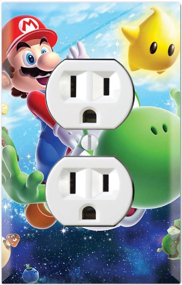 Duplex Wall Outlet Plate Decor Wallplate - Super Mario Galaxy Yoshi (Duplex Outlet)